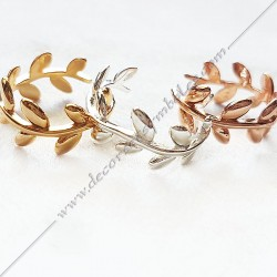 BFM070- bagues-maconniques-bijoux-loges-or-cadeaux-femmes-franc-maconnerie- feuille-branche-acacia-mode