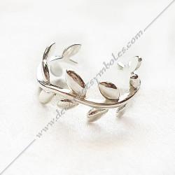 bague-maconnique-argentee-bijoux-loges-or-cadeaux-femmes-franc-maconnerie- feuilles-branches-acacia-cadeaux