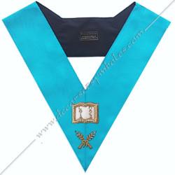 SRF 008 - Orateur, sautoir d'officier du rite français groussier, acacia, décors maçonniques, bijoux, franc maçonnerie