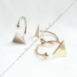 Adjustable Triangle Ring -...