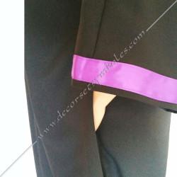 RHS120-robe-maconnique-noire-memphis-misraim-pourpre-ruban-decors-loges-martiniste-source-fm-glmmm-objets-venise