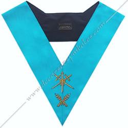 SRF 009 - Maitre des Cérémonies, sautoir d'officier du RF groussier, acacia, décors maçonniques, bijoux, franc maçonnerie