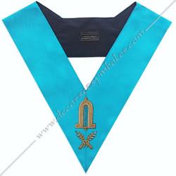 SRF 005 - 2ns Surveillant, sautoir d'officier du rite français groussier, acacia, décors maçonniques, bijoux, franc maçonnerie