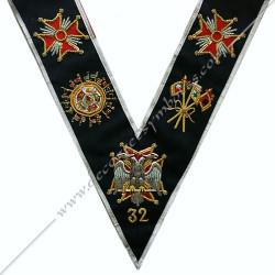 HRA144-sautoir-maconnique-32eme-degre-reaa-rite-ecossais-ancien-accepté-hauts-grades-ateliers-superieurs-decors-rituels-fm