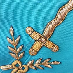 Couvreur, sautoir d'officier du rite français groussier, acacia, décors maçonniques, bijoux, franc maçonnerie, loges bleues