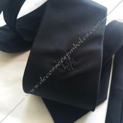 ACC011-cravate-noire-maconniques-broderie-noire-equerre-compas-symboles-decors-cadeaux-souvenirs-noeuds-papillons-fm