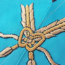 Secrétaire, sautoir d'officier du rite français groussier, acacia, décors maçonniques, bijoux, franc maçonnerie, loges bleues