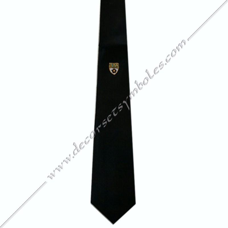 ACC013-cravates-soie-brodée-maconniques-personnalisée-symboles-decors-fm-ecusson-sceau-loge-noeuds-papillons-embleme