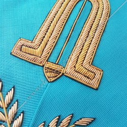 2nd surveillant, sautoir d'officier du RF groussier, acacia, décors maçonniques, bijoux, franc maçonnerie, loges bleues