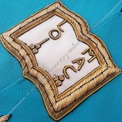 Orateur, sautoir d'officier du rite français, acacia, décors maçonniques, bijoux, franc maçonnerie, loges bleues