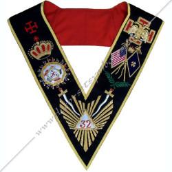 HRA166-sautoir-32eme-degre-reaa-aréopage-decors-maconniques-rite -ecossais-ancien-accepte-rituels-loges-fm