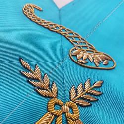 Maitre des banquets, sautoir d'officier RF, acacia, décors maçonniques, bijoux, franc maçonnerie, loges bleues