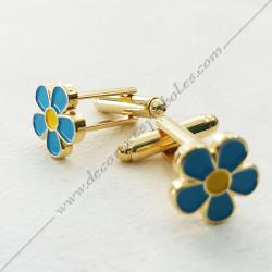 boutons-de-manchettes-maconniques-myosotis-decors-cadeaux-bijoux-franc-maconnerie- symboles-francs-macons-bleu-jaune