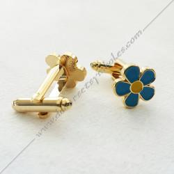 boutons-de-manchettes-maconniques-miosotis-bleu-jaune-decors-cadeaux-bijoux-franc-maconnerie- symboles-objets-francs-macons