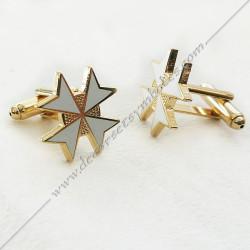 boutons-de-manchettes-maconniques-croix-de-malte-blanc-decors-cadeaux-bijoux-franc-maconnerie- symboles-francs-macons-fm
