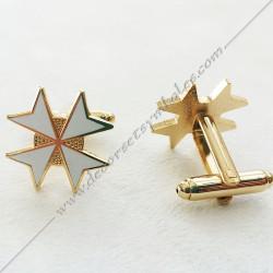boutons-de-manchettes-maconniques-croix-de-malte-doree-decors-cadeaux-bijoux-franc-maconnerie- symboles-articles-francs-macons