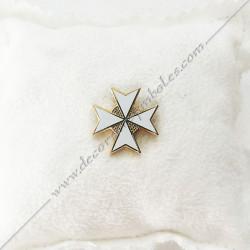 pin's-pins-epinglette-maconnique-croix-de-malte-or-decors-cadeaux-bijoux-franc-maconnerie- symboles-objets-francs-macons