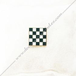 pin's-epinglette-pins-maconniques-pave-mosaique-damier-noir-blanc-decors-cadeaux-bijoux-franc-maconnerie