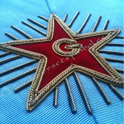 Sautoir maçonnique de Vénérable Maitre du Rite Français Moderne avec étoile et lettre G