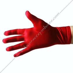 Gants Maconniques Rouge -...