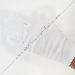 White Cotton Gloves - 3...