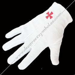 GCC010-gants-maconniques-blancs-brodés-croix-templiere-decors-coton-rer-rite-rectifie-accessoires-cadeaux-souvenirs-fm