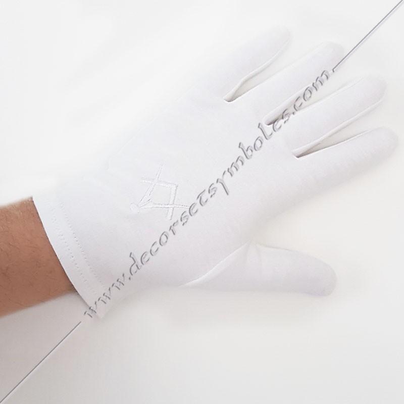 GCB040-gants-maconniques-blancs-brodes-equerre-compas-homme-femmes-decors-maconniques-objets-franc-maconnerie-fm