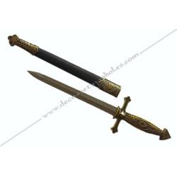 DFM010-dague-maconnique-lame-droite-fourreau-accessoire-1er-ordre-rite-francais-franc-maconnerie-fm