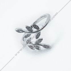 bagues-maconniques-bijoux-symboles-argent-diamant-strass-cadeaux-femmes-franc-maconnerie-feuilles-branches-acacia-decors-fm