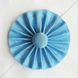 ACC021-cocardes-maconnique-bleu-ciel-rite-regime-ecossais-rectifie-rer-francais-moderne-rosettes-decors-accessoires- bouton-fm