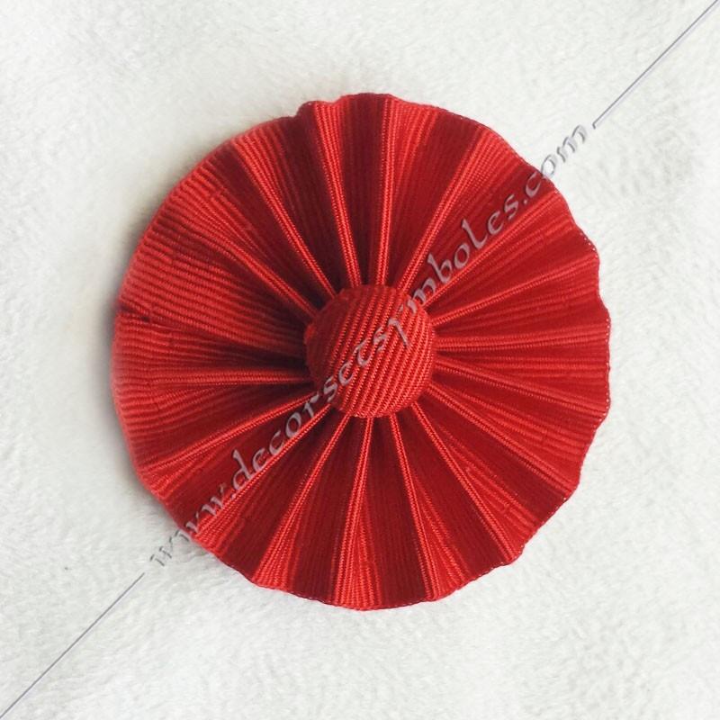 ACC021-cocardes-maconnique-rouge-rite-francais-rosettes-decors-accessoires-bouton-rouge-fm