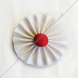White Rosette With Red...