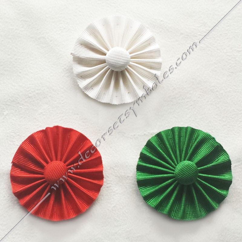 ACC020-cocardes-maconnique-verte-rite-francais-rosettes-decors-accessoires-bouton-vert-fm