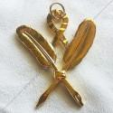 Gants maconniques noirs nylon, ceremonie, apprenti, maitre - GNN 010