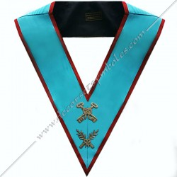 SRA001-Masonic-Regalia-Officer-Treasurer-Officer-Collar-AASR-Ancient-and-Accepted-Scotish-Rite-with-crossed-acacia-branches