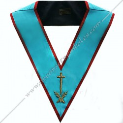 SRA002-Masonic-Regalia-Officer-Roofer-Collar-AASR-Ancient-and-Accepted-Scotish-Rite-with-crossed-acacia-branches