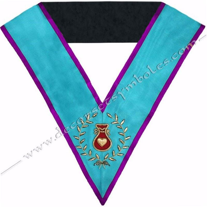 SRM001P-sautoir-cordon-maconnique-officier-hospitalier-rite-memphis-misraim-venise-toulouse-decors-egyptien-goe-fm
