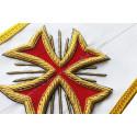 Sautoir maconnique 14eme degre REAA, Rite Ecossais - Decors Franc-maconnerie grand loge, gldf - HRA 011