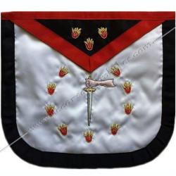 HRF260N-tablier-maconnique-1er-premier-ordre-rite-francais-ateliers-superieurs-sagesse-decors-rf-hauts-grades-fm
