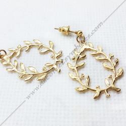 bijoux-boucles-oreilles-pendantes-acacia-or-maconniques-symboles-decors-femmes-cadeaux-franc-maconnerie