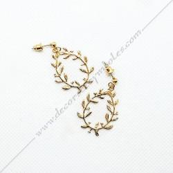 bijoux-boucles-oreilles-or-dorees-maconniques-symboles-acacia-decors-femmes-cadeaux-franc-maconnerie