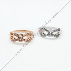 bague-maconnique-infini-lac-amour-bijoux-femmes-or-argent-cadeaux-cadeaux-symboles-franc-maconnerie- strass