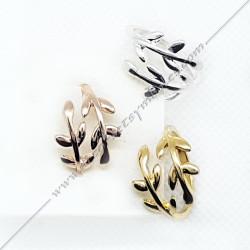 bagues-maconniques-bijoux-loges-or-argent-rose-cadeaux-femmes-franc-maconnerie- feuilles-branches-acacia-decors-symboles