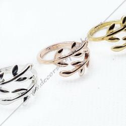 bagues-maconniques-bijoux-cadeaux-or-argent-cadeaux-femmes-franc-maconnerie- feuilles-branches-acacia-decors-symboles