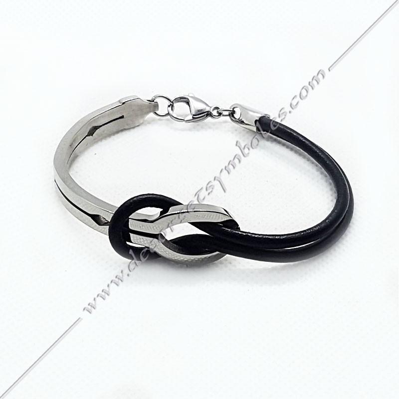 bracelet homme infini cuir