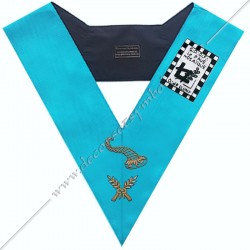 SRF 169 - Maitre des Banquets, sautoir d'officier du RF groussier, acacia, décors maçonniques, bijoux, franc maçonnerie