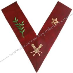 HRA028-sautoir-cordons-maconnique-officier-grand-secretaire-14eme-degre-reaa-rite-ecossais-ancien-accepte-fm