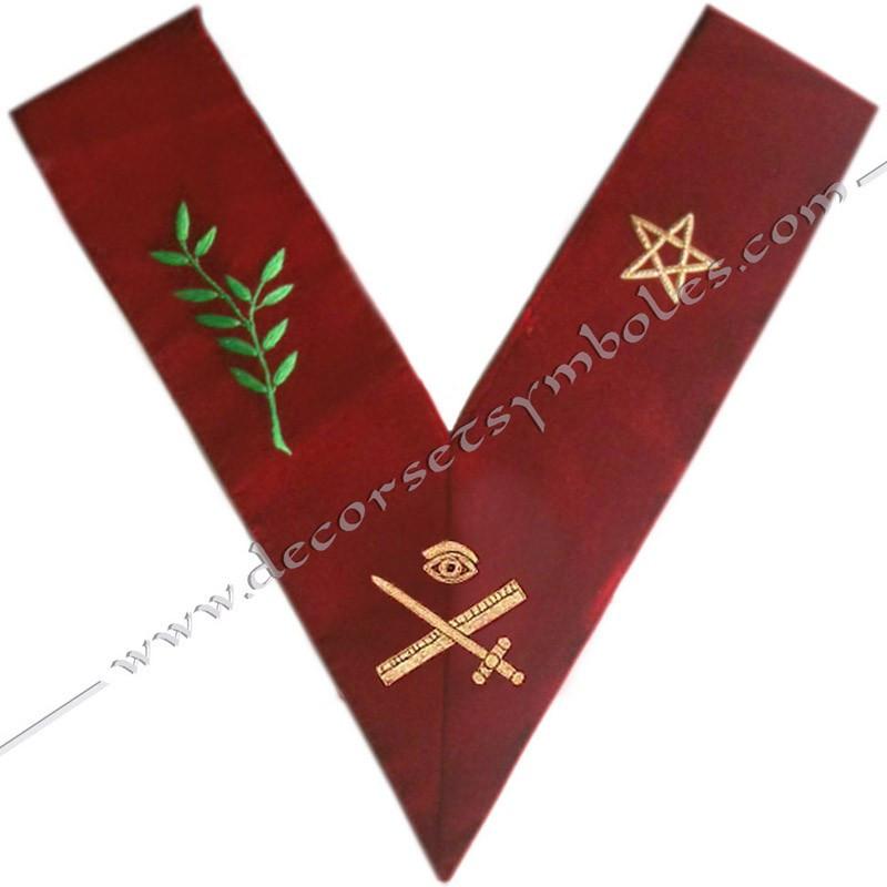 HRA030-sautoir-cordons-maconnique-officier-grand-expert-14eme-degre-reaa-rite-ecossais-ancien-accepte-fm