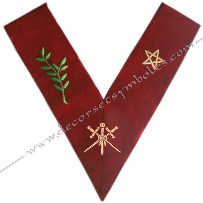 HRA033-sautoir-officier-maconnique-maitre-ceremonies-14eme-degre-reaa-rite-ecossais-ancien-accepte-fm