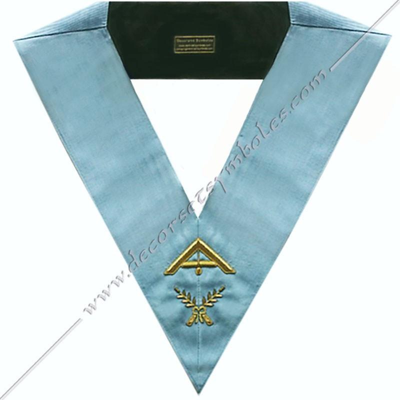 SRFT007-sautoir-cordons-maconnique-officier-1er-premier-surveillant-rite-francais-traditionnel-philosophique-fm